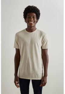 Camiseta Reserva Desfibrada Masculina - Masculino-Bege