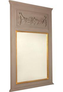 Espelho Decorativo Les Landes De Parede Com Moldura De Madeira