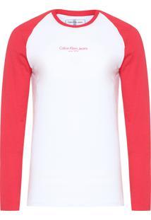 Camiseta Masculina Estampa Peito - Branco