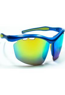 Óculos De Sol Jf Sun Ósmio-Azul-Verde Espelhado - Kanui