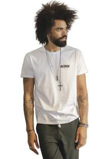 Camiseta St Hommes Remo Floral Branca