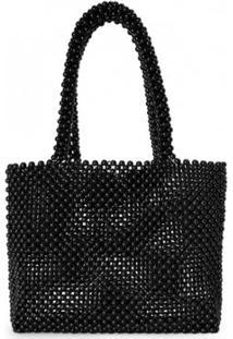 Bolsa Amaro Média Beads Feminina - Feminino