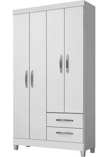 Guarda-Roupa Solteiro Modena Flex Branco/Azul/Rosa 4 Portas 2 Gavetas - Incorplac