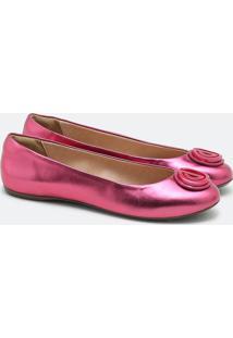 Sapatilha Metalic Rosa Framboesa