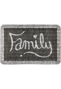Capacho Carpet Family Cinza Único Love Decor