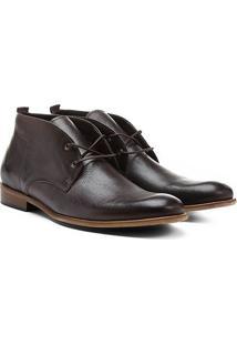 Bota Couro Cano Curto Shoestock I Masculina