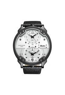 Relógio Masculino Oulm Hp3548M Analógico - Branco