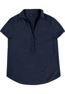 Camisa Feminina Básica Em Tecido De Viscose