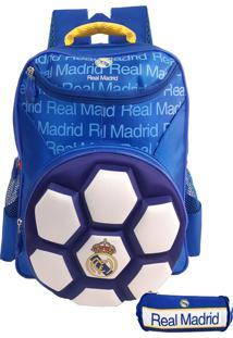 Kit Mochila 3D Bola Futebol Maccabi Real Madrid 5542