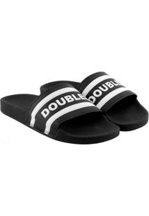Chinelo Qix Double-G Slide Listrado