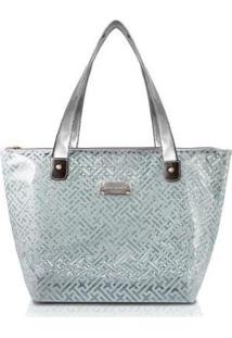 Bolsa Shopper Transparente Jacki Design Feminina - Feminino-Cinza Claro