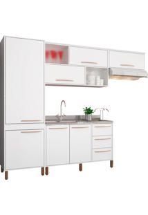 Cozinha Compacta Hibisco Branco Móveis Albatroz