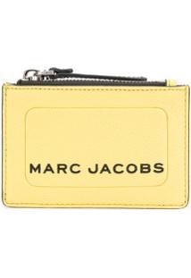 Marc Jacobs Carteira Com Logo Gravado - Amarelo