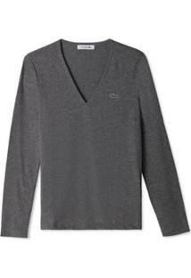 Camisa Lacoste Feminino - Feminino-Cinza