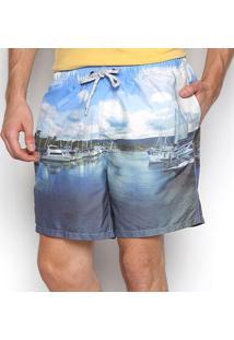 Shorts Jab Porto Masculina - Masculino-Azul