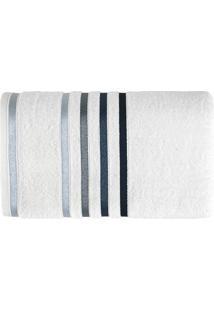 Toalha De Rosto Lumina Branca E Azul