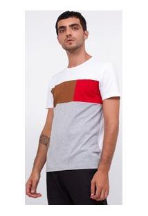 Camiseta Slim Com Recortes Em Suede