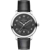 d4383c879b8 Relógio Montblanc Masculino Couro Cinza - 118517
