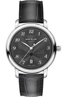 751a0df3ca8 ... Relógio Montblanc Masculino Couro Cinza - 118517