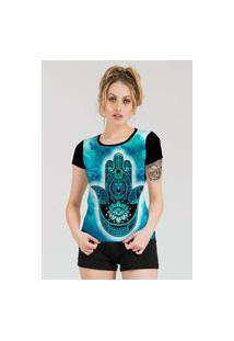 Camiseta Stompy Estampada Feminina Modelo 49 Preta