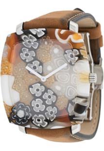 Yunik Relógio Klimt Tonneau - Marrom