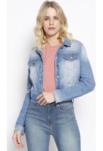 Casaco Jeans Com Bolsos - Azul Claro - Sommersommer