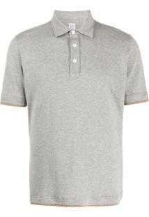 Eleventy Camisa Polo Com Efeito De Sobreposição - Cinza
