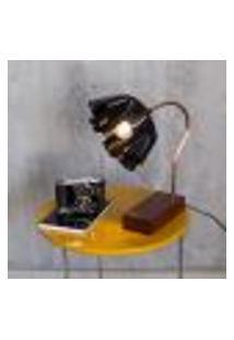 Luminária Rockin'Lamp (Disco De Vinil, Cobre E Madeira) - Bivolt