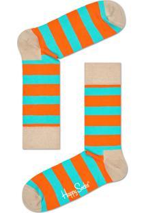 Meia Masculina Stripe Sock - Laranja