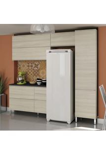 Cozinha Compacta Versatti I 6 Pt 3 Gv Creme Nacre