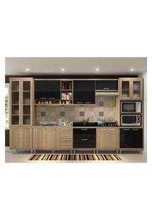 Cozinha Completa Multimóveis Com 8 Peças Sicília 5806 Argila/Preto