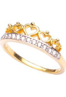 Anel Boca Santa Falange Princesa Isabel - Ouro Amarelo