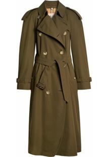 Burberry Trench Coat The Long Westminster Heritage - Verde
