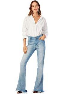 Calça Iódice Flare Cós Alto Clara Jeans Feminina - Feminino
