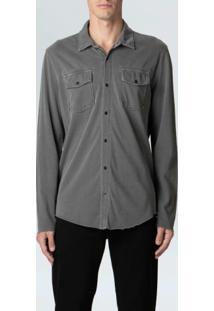 Camisa Army Pockets-Chumbo - P