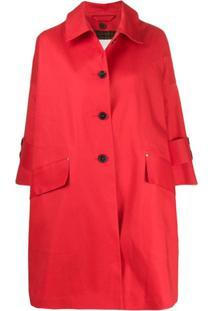Mackintosh Sobretudo Curto Humbie - Vermelho