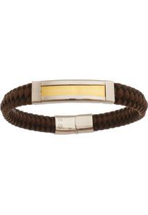 Bracelete De Aço Inox Tudo Jóias Com 11Mm De Largura Gold