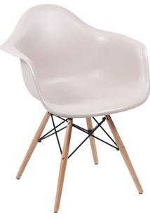 Poltrona Eames Dar- Fendi & Bege- 82X62X44Cm- Oror Design