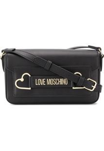 Love Moschino Bolsa Tiracolo Com Logo E Detalhe De Coração - Preto