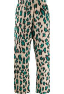 Mm6 Maison Margiela Calça Cropped Com Estampa De Leopardo - Neutro