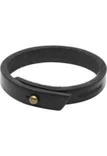Bracelete Cutterman Co. De Couro Preto