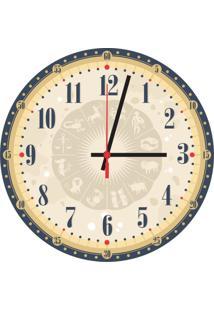 Relógio De Parede Decorativo Signos Único