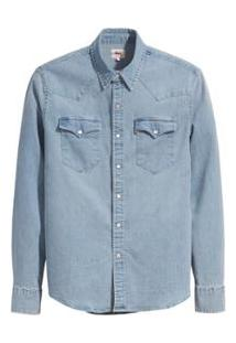 Camisa Jeans Levis Classic Western Lavagem - Masculino-Azul Claro