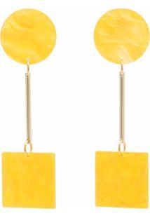 Iuo Geometric Drop Earrings - Amarelo
