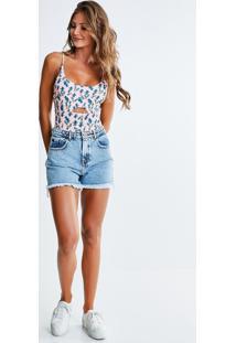 Short Jeans Com Bordado