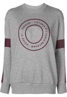 Victoria Victoria Beckham Blusa De Moletom Com Logo - Cinza