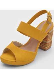 Sandã¡Lia Mississipi Corda Amarela - Amarelo - Feminino - Dafiti