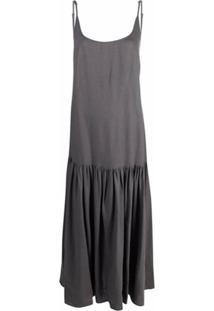 Parlor Open-Back Maxi Dress - Cinza