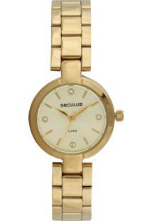 Relógio Seculus 23594Lpsvds1 Dourado