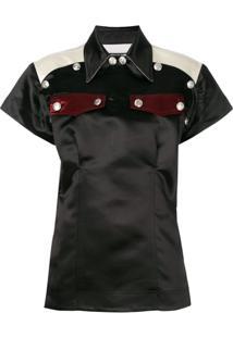 Calvin Klein 205W39Nyc Blusa Com Bolsos - Preto